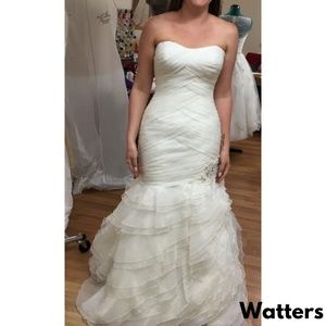 Watters Mermaid Sweetheart Ivory Wedding Dress